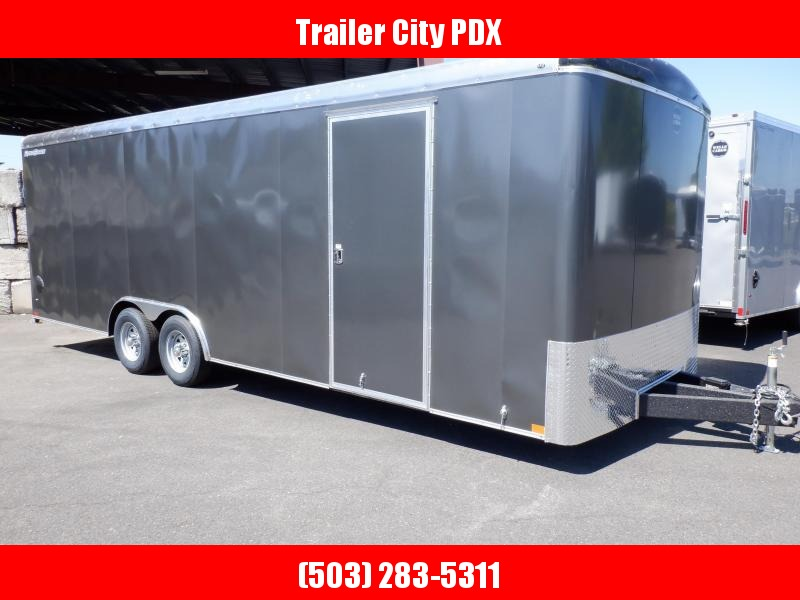 2020 Wells Cargo 8.5 X 24 10K CARHAULER ROAD FORCE RAMP CHARCOAL Enclosed Cargo Trailer
