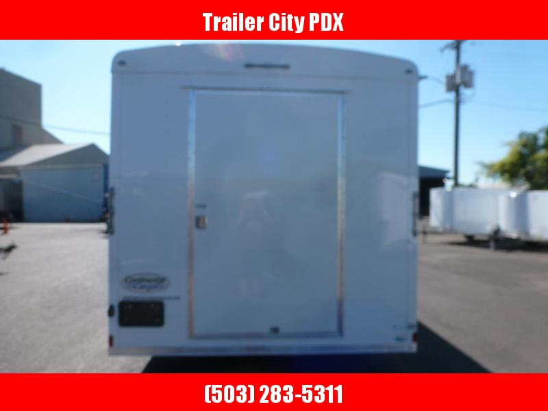 2020 Continental Cargo 8 X 20 7K WIDE RAMP WHITE Enclosed Cargo Trailer