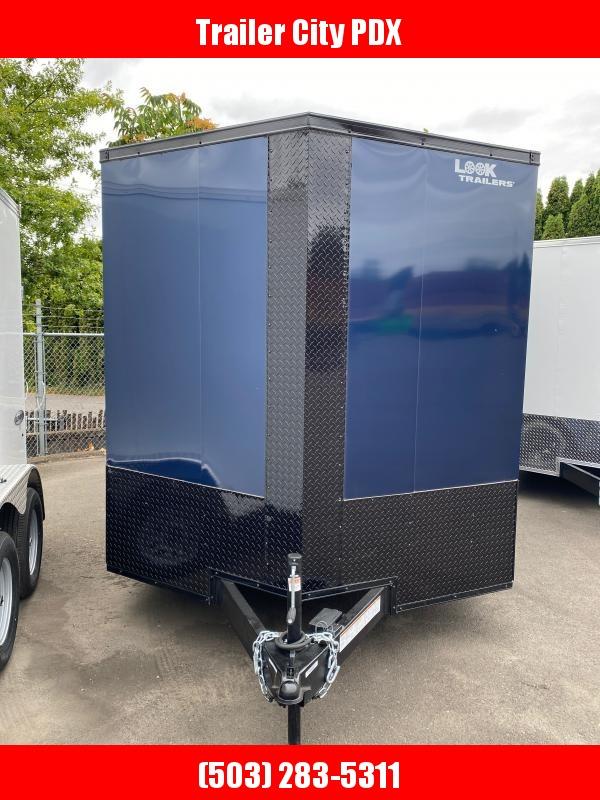 Look Trailers 7.0X16 7K ENCLOSED INDIGO BLUE Enclosed Cargo Trailer