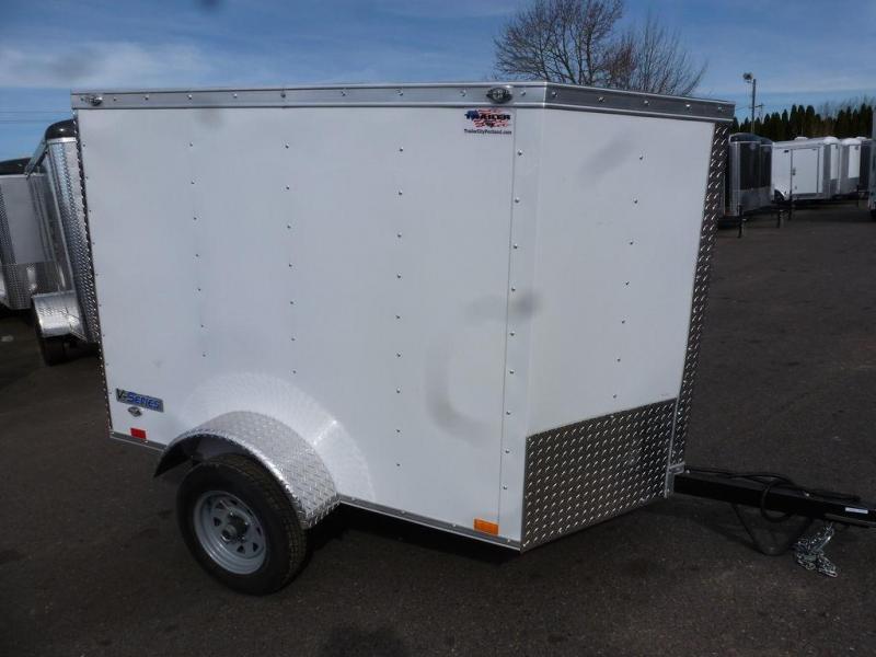 Continental Cargo 4X6 CARGO V SERIES WHITE Enclosed Cargo Trailer