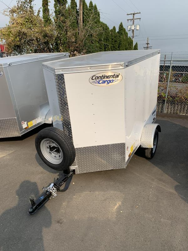 Continental Cargo 4X6 CARGO V SERIES WHITE Enclosed Cargo Trailer