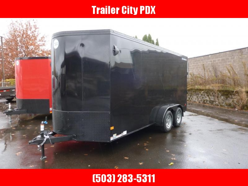 2021 Wells Cargo 7X16 7K ROAD FORCE V BLACK PHANTOM Enclosed Cargo Trailer