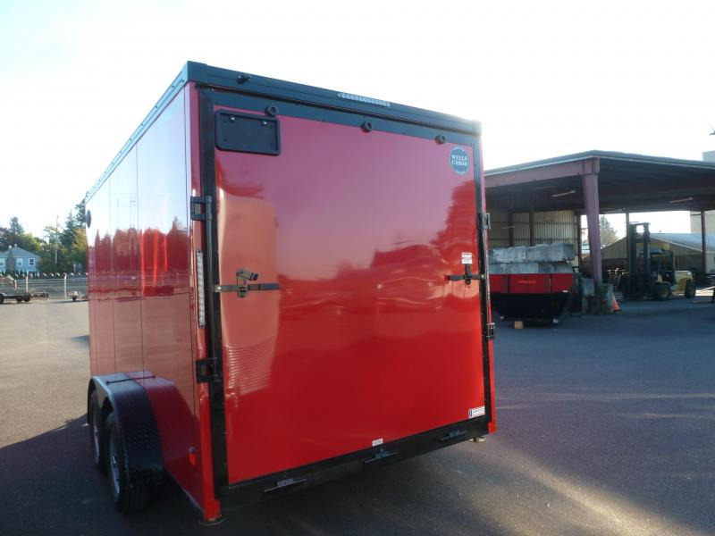 2021 Wells Cargo 7 X 14 7K RAMP VICTORY RED PHANTOM ROAD FORCE  Enclosed Cargo Trailer