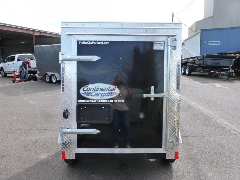 2021 Continental Cargo 4X6 V-SERIES BLACK Enclosed Cargo Trailer