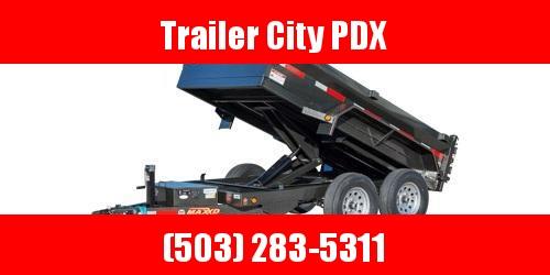 2021 MAXXD 5X10 10K 3FT SIDES D6X Scissor Lift Dump Dump Trailer