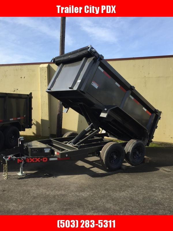2021 MAXXD 5X10 7K 3FT SIDES D6X Scissor Lift Dump Dump Trailer