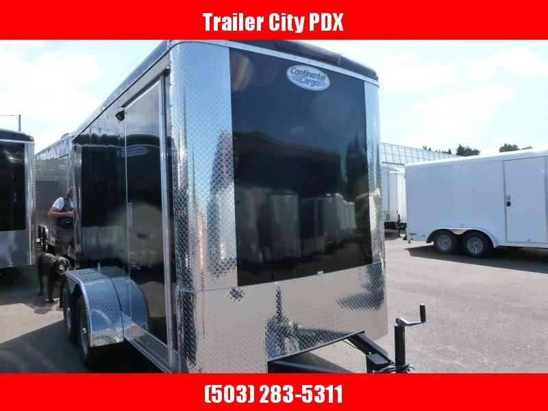 2021 Continental Cargo 6X12 7K BLACK TALL Enclosed Cargo Trailer