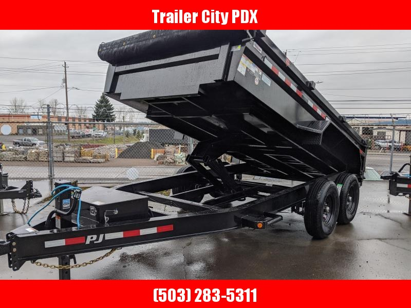 PJ Trailers 14' x 83 in. 14k Low Pro Dump (DL) TRAILER