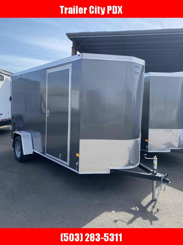 Wells Cargo RFV 6X12 3K CARGO DOORS CHARCOAL GRAY Enclosed Cargo Trailer