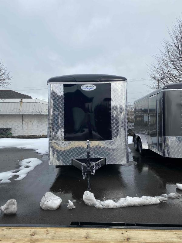 2021 Continental Cargo 7X16 7K TALL RAMP BLACK Enclosed Cargo Trailer