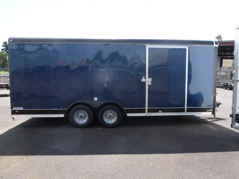 2020 Continental Cargo 8 x 20 10k CARHAULER RAMP INDIGO BLUE Enclosed Cargo Trailer