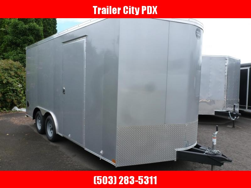 2020 Wells Cargo 8.5 X 16 7K V-NOSE RAMP SILVER FROST ROAD FORCE Enclosed Cargo Trailer