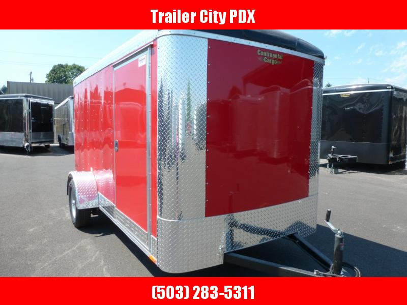 2021 Continental Cargo 6X12 3K RED RAMP Enclosed Cargo Trailer