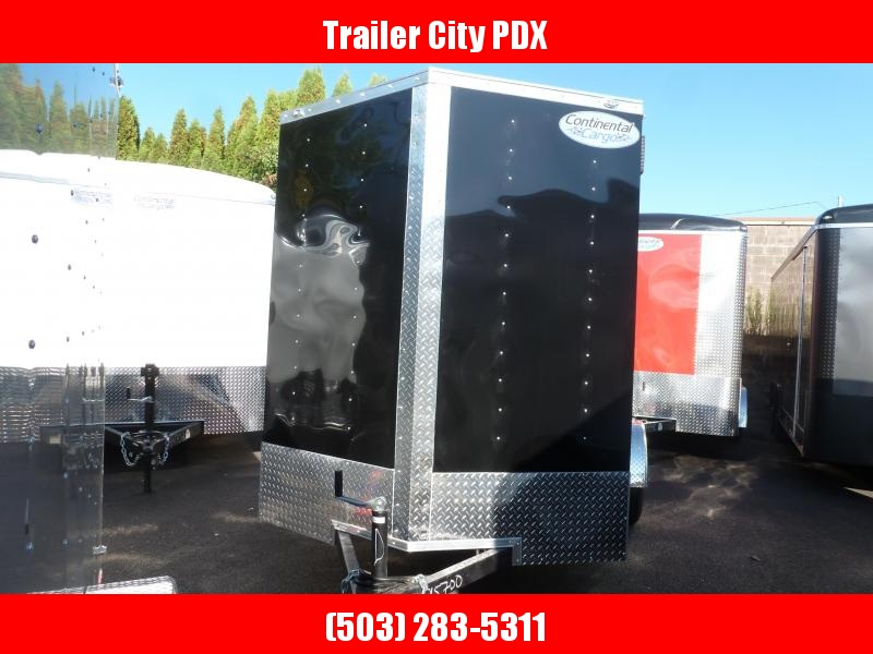 2020 Continental Cargo 6 X 10 3K V SERIES BLACK TALL RAMP Enclosed Cargo Trailer