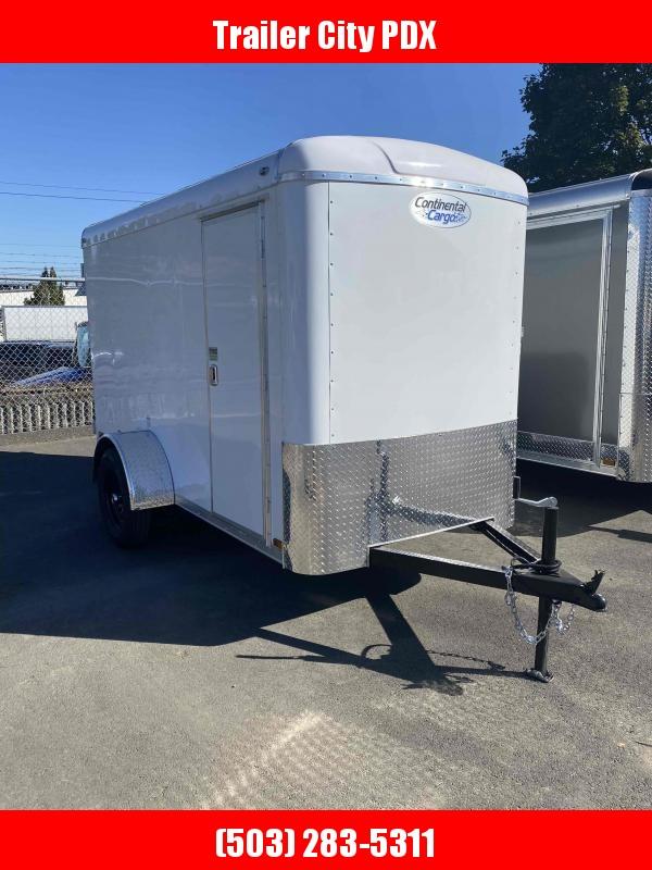 Continental Cargo 5 x 10 3k Cargo White Enclosed Cargo Trailer