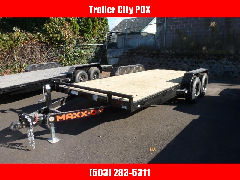 2021 MAXXD 7 X 16 7K CHANNEL CARHAULER Flatbed Trailer