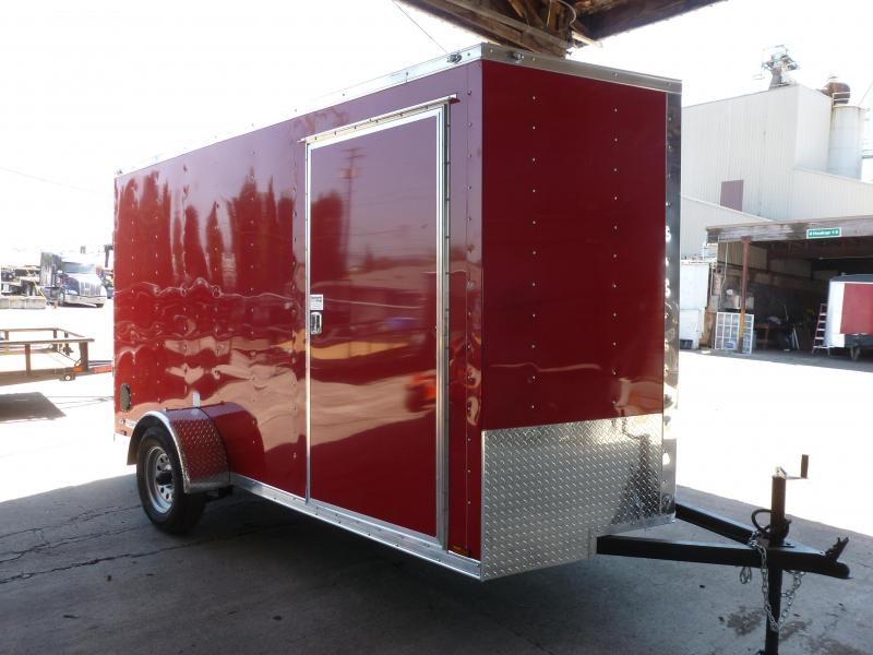 2020 Continental Cargo 6 X 12 3K V SERIES RED TALL RAMP Enclosed Cargo Trailer