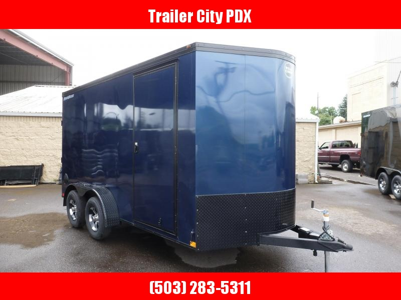 2020 Wells Cargo 7 X 14 7K RAMP V-NOSE INDIGO BLUE Enclosed Cargo Trailer