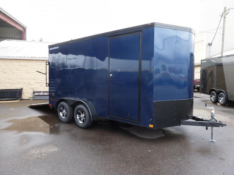 2020 Wells Cargo 7 X 14 7K RAMP V-NOSE INDIGO BLUE Enclosed Cargo Trailer
