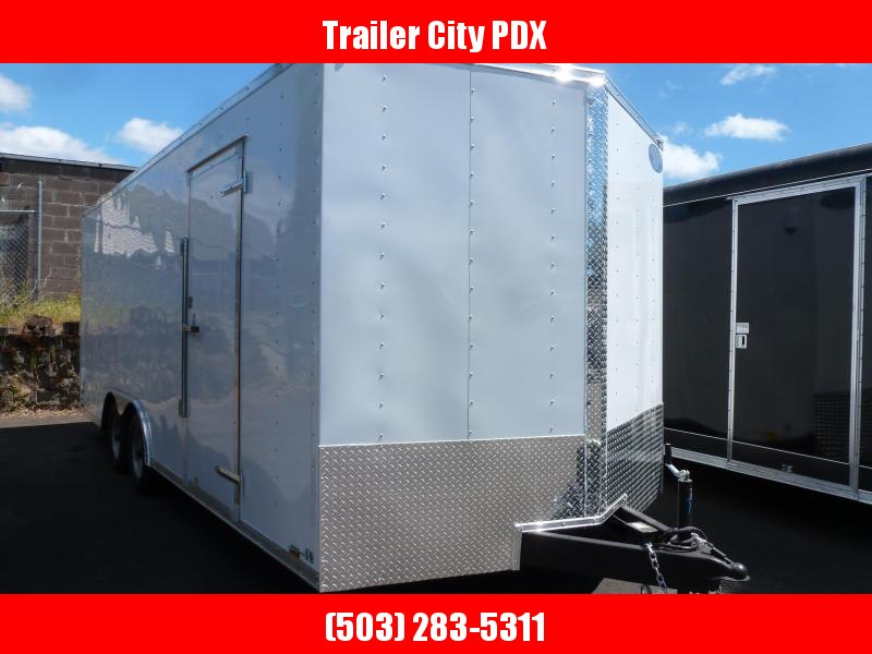 2020 Continental Cargo 8.5 X 20 7K V-SERIES WHITE TALL Enclosed Cargo Trailer