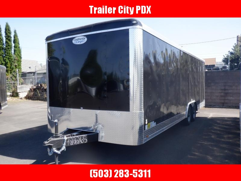 2020 Continental Cargo 8.5 X 24 10K CARHAULER RAMP BLACK Enclosed Cargo Trailer