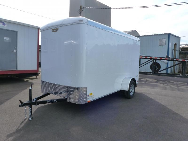 2020 Continental Cargo 6X12 3K TALL WHITE RAMP Enclosed Cargo Trailer
