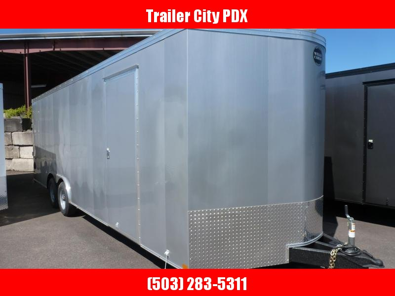 2020 Wells Cargo 8.5 X 24 10K RFV SILVERFROST RAMP V-NOSE Enclosed Cargo Trailer