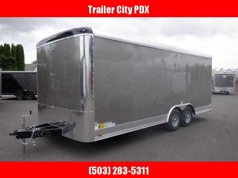 2020 Continental Cargo 8 X 20 10K RAMP PEWTER Enclosed Cargo Trailer