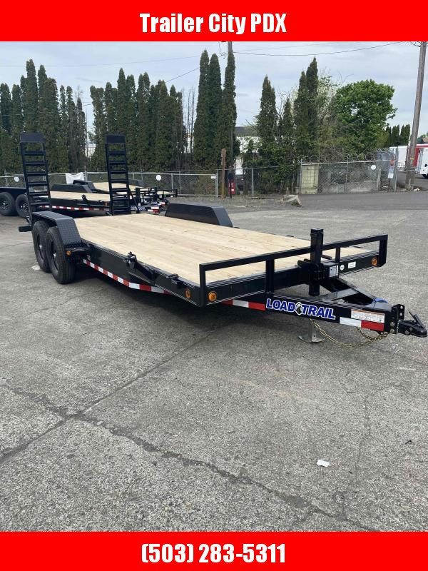 2021 Load Trail 83 x 20 TANDEM AXLE CARHAULER 10K FOLD UP RAMPS Flatbed Trailer