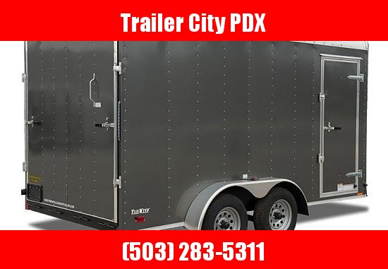 2021 Continental Cargo 7X14 7K RAMP TALL RED Enclosed Cargo Trailer