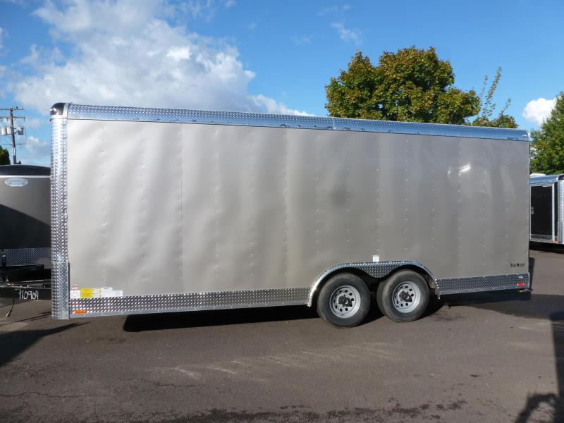 2020 Continental Cargo 8 X 20 10 K RAMP CAR HAULER CHAMPAGNE Enclosed Cargo Trailer