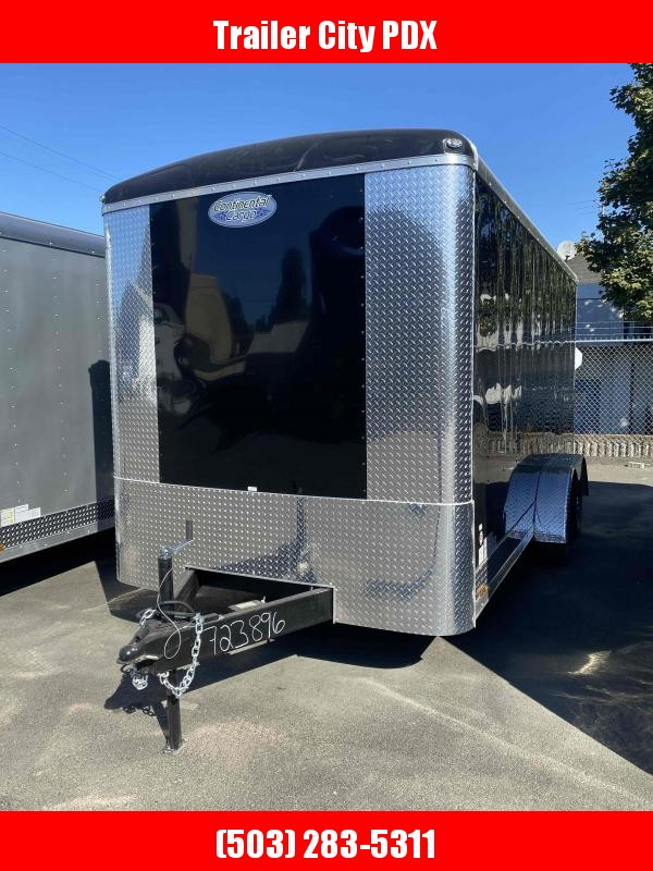 Continental Cargo 7 X 16 TALL RAMP BLACK Enclosed Cargo Trailer