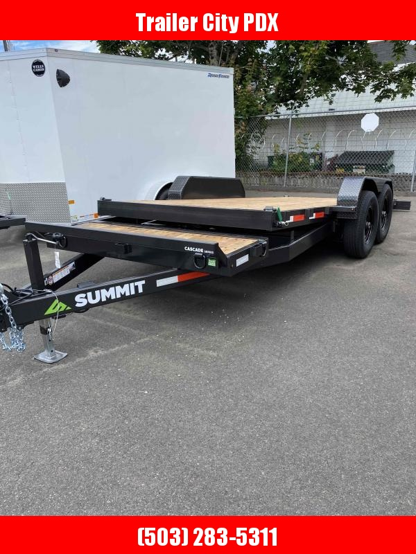 2021 Summit 7 X 18 16 +2 STAIONARY TILTBED 14K Equipment Trailer