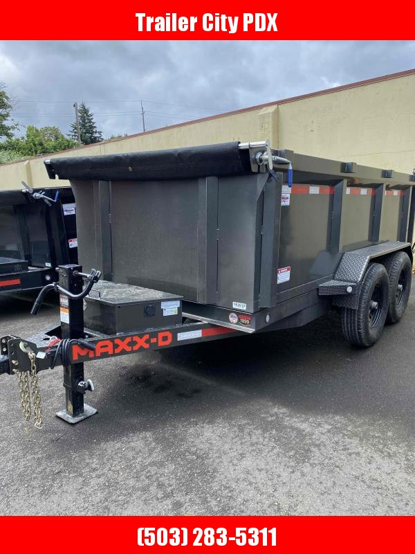 MAXXD 6 X 12 12K 3FT SIDE Scissor Lift Dump Trailer Dump Trailer