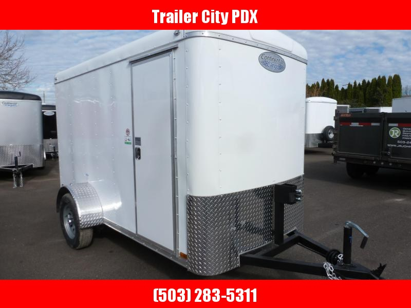 2020 Continental Cargo 5 X 10 3K RAMP WHITE Enclosed Cargo Trailer