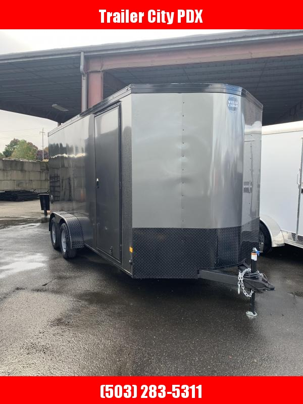 2021 Wells Cargo RFV 7X16 T2 CHAR/BLK 7K Enclosed Cargo Trailer