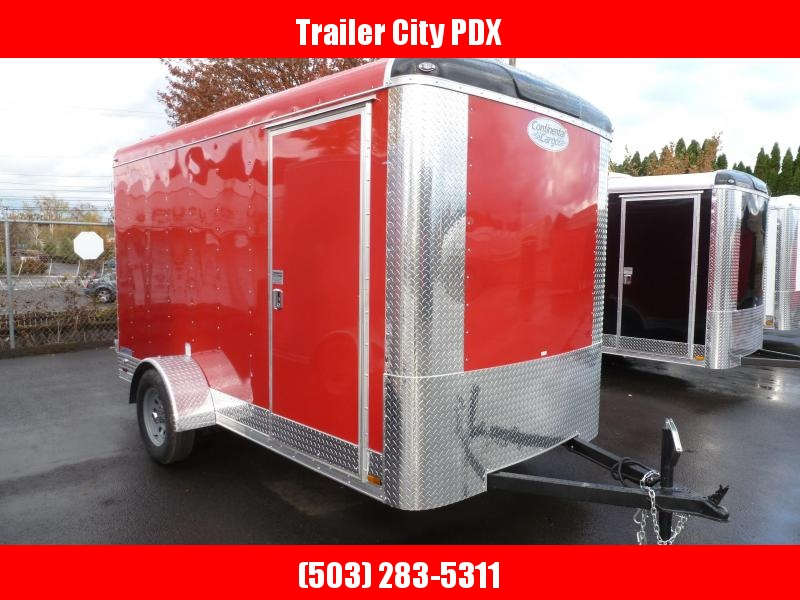 2021 Continental Cargo 6 X 12 3K RED CARGO DOOR Enclosed Cargo Trailer