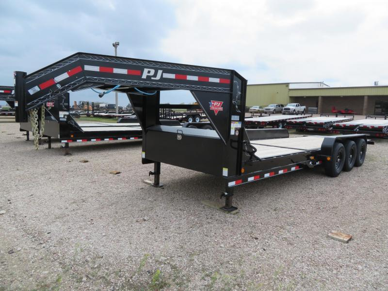 2020 PJ Trailers 24 Tiltbed GN Triple Axle Equipment Trailer