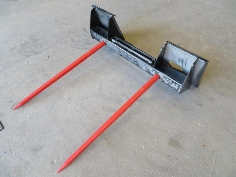 New KM Skid Steer Double Tine Bale Spear