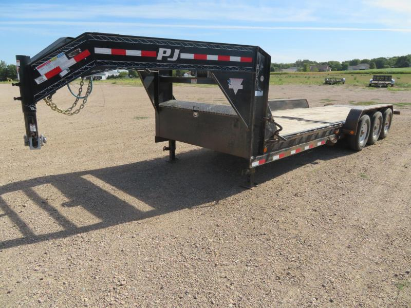 2016 PJ Trailers 24 Tiltbed GN Triple Axle Equipment Trailer