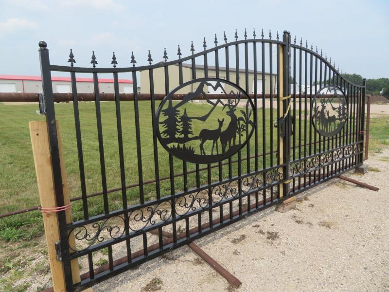 Wrought Iron 20' Gate Farm / Ranch