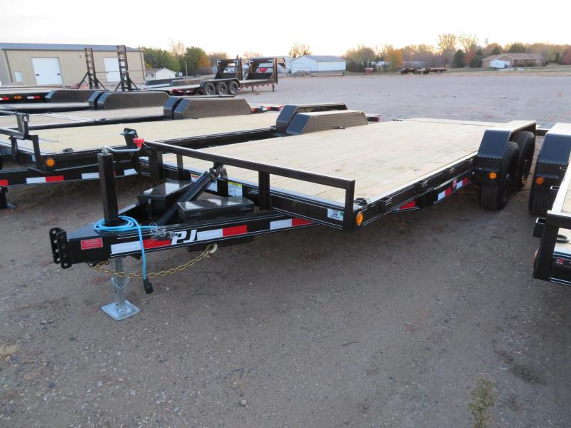 2021 PJ Trailers 20 Tiltbed Equipment Trailer