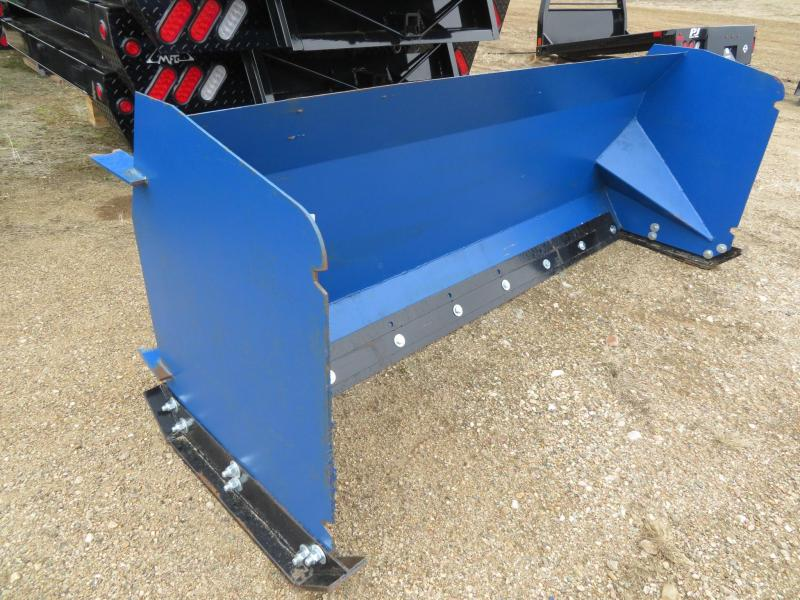 Blue 8' Skid Steer Snow Pusher