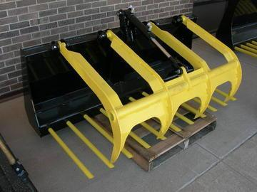 "New MDS 66"" Skid Steer Manure Tine Grapple Bucket"