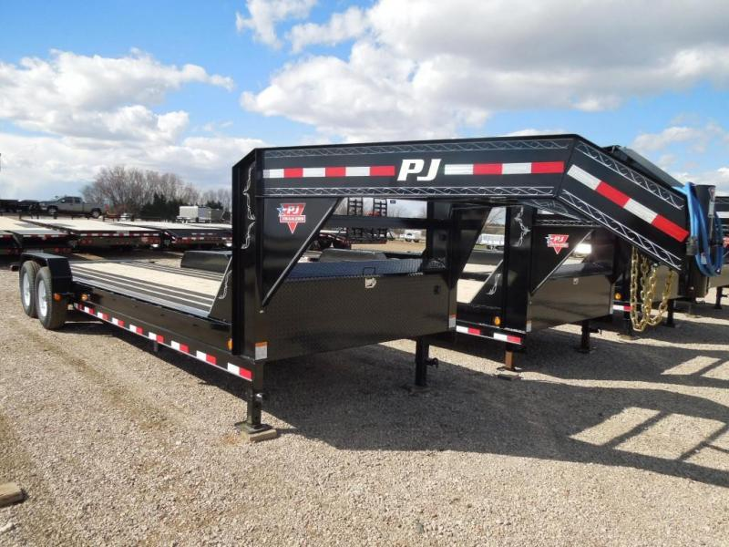 2020 PJ Trailers 24 Full Tilt GN Equipment Trailer