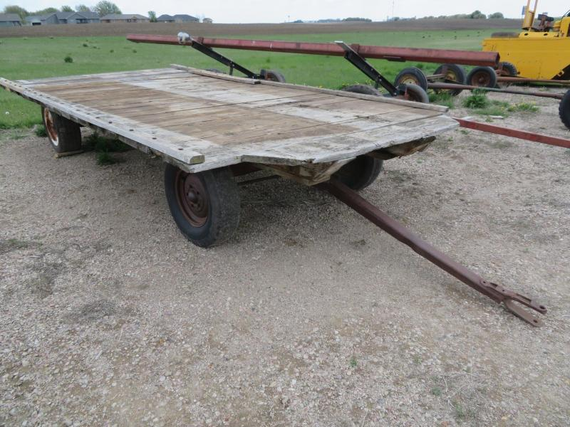 Used 8 x 16 Hay Flatbed on Electric Running Gear