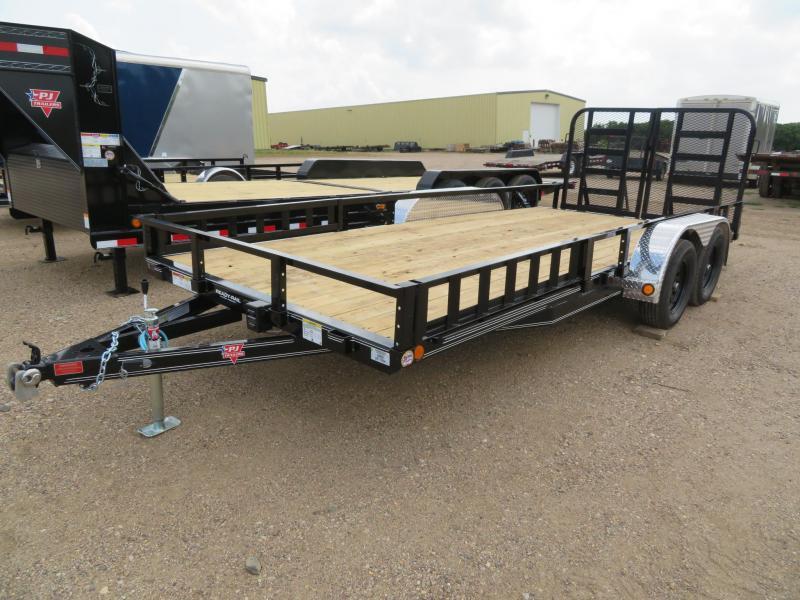 2021 PJ Trailers 18 Tandem Axle ATV Utility Trailer