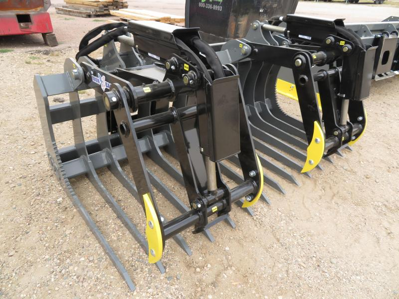 "New MDS Iron Eagle 77"" Skid Steer Slat Bucket w/Grapple"