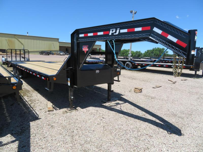 2021 PJ Trailers 32 Tandem Dual GN Trailer w/ Monster Ramps