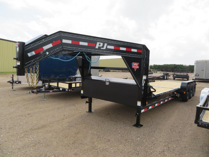 2021 PJ Trailers 26 Tiltbed GN Triple Axle Equipment Trailer